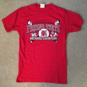 Tops - Fresno State baseball championship t-shirt